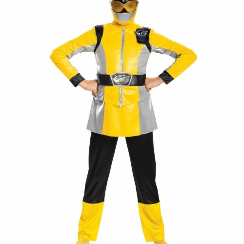 Disguise 403057 Yellow Ranger Beast Morpher Deluxe Costume for Boys, Medium Perspective: front