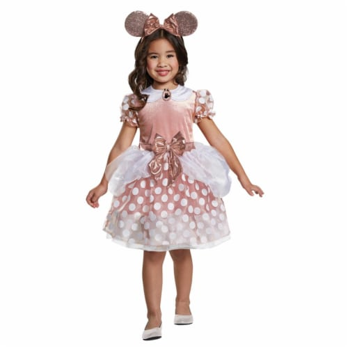 Morris Costumes DG15705M Minnie Mouse Toddler Costume, Rose Gold - 3T-4T Perspective: front