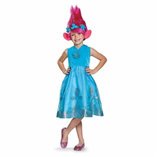 Disguise 249108 Branch Deluxe with Wig Trolls Costume, Large Perspective: front