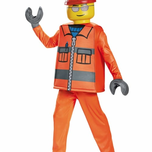 Disguise 272728 Construction Worker Deluxe Child Costume - Small Perspective: front