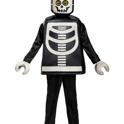 Disguise 272730 Skeleton Deluxe Child Costume - Small Perspective: front