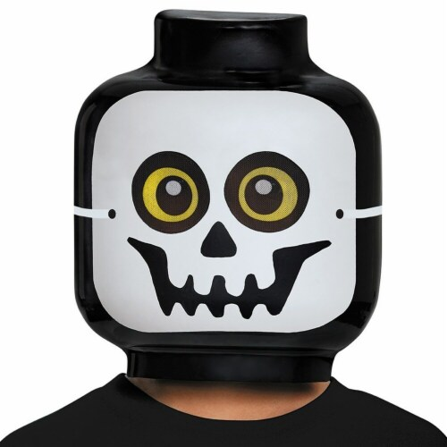 Disguise 249551 Lego Iconic - Skeleton Child Mask - One Size Perspective: front