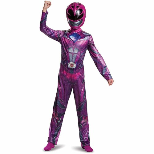 Disguise  Power Ranger Movie Classic Costume, Pink, Large (10-12) Perspective: front