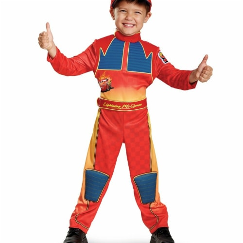 Disguise 272137 Lightning Mcqueen Deluxe Child Costume - Small Perspective: front