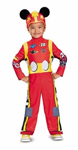 Disguise Mickey Roadster Classic Toddler Costume, Multicolor, Small (2T) Perspective: front