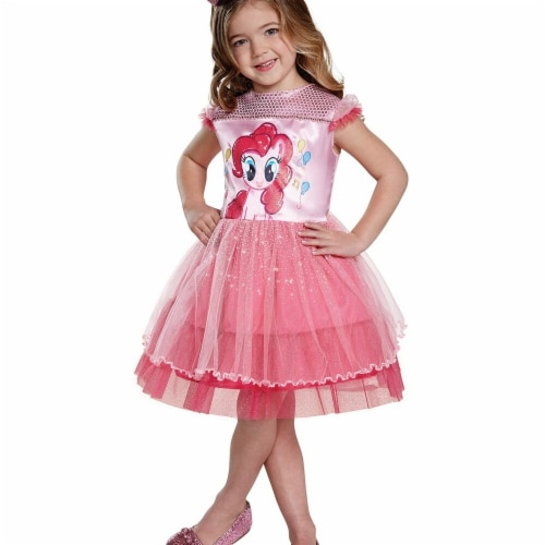 Disguise 249493 My Little Pony Pinkie Pie Classic Toddler Costume - 2T Perspective: front