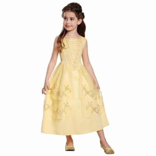 Disguise Belle Ball Gown Classic Movie Costume, Yellow, Medium (7-8) Perspective: front