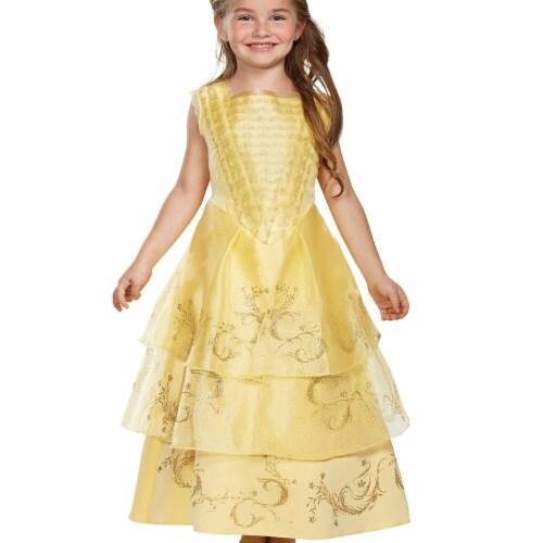 Disguise 272392 Belle Ball Gown Deluxe Toddler Costume - 3T-4T Perspective: front