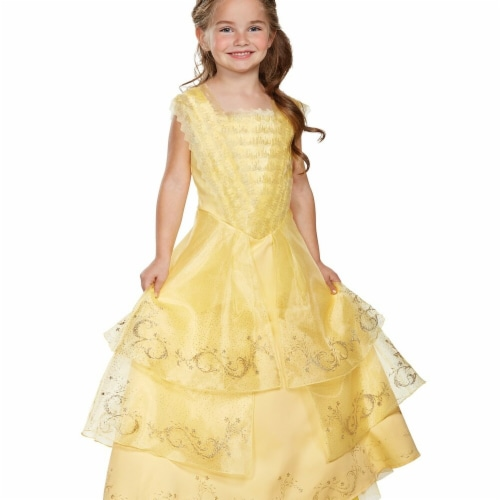 Disguise 272425 Belle Ball Gown Prestige Toddler Costume - 3T-4T Perspective: front
