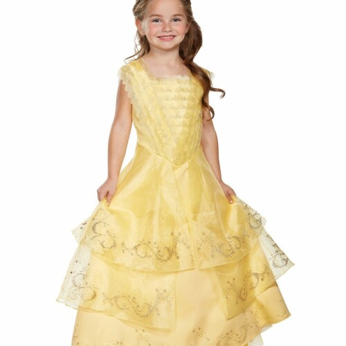 Disguise 272426 Belle Ball Gown Prestige Child Costume - Medium Perspective: front
