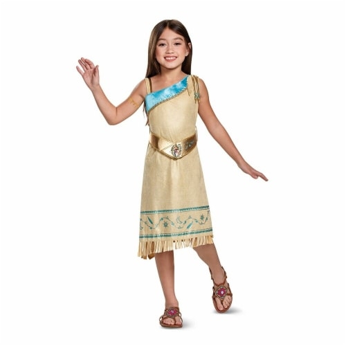 Disguise 272573 Pocahontas Deluxe Child Costume - Medium Perspective: front