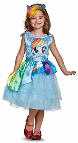 Disguise Rainbow Dash Movie Classic Costume, Blue, Small (4-6X) Perspective: front