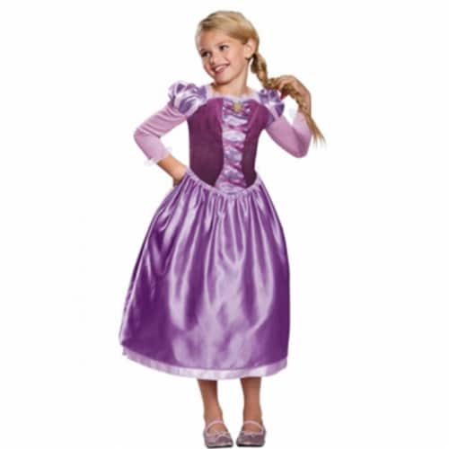 Disguise Rapunzel Day Dress Classic Costume, Purple, Medium (7-8) Perspective: front