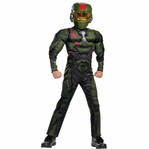 Morris DG24406G Halo Wars Jerome Muscle Child Costume, Size 10-12 Perspective: front
