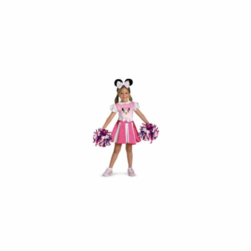 Costumes For All Occasions DG26896M Minnie Mouse Cheerleader 3T-4T Perspective: front