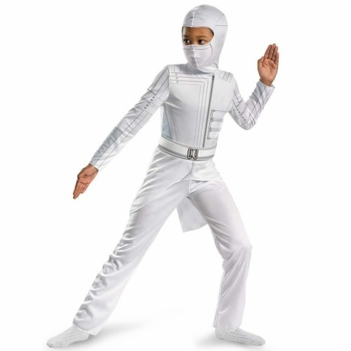GI Joe Storm Shadow Classic Costume size S 4/6 Kids Outfit Coat Jumpsuit Disguise Perspective: front