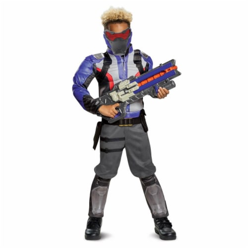 Disguise 276114 Halloween Overwatch Soldier 76 Classic Muscle Child Costume - Medium Perspective: front