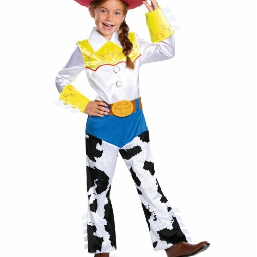 Disguise 403176 Girls Toy Story 4 Jessie Deluxe Child Costume, Small Perspective: front