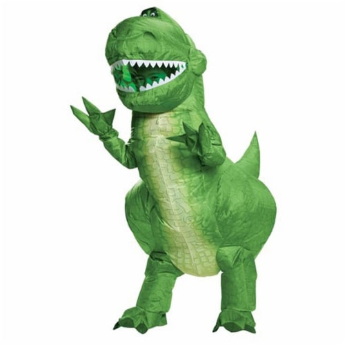 Toy Story 4 Rex Inflatable Child Costume Green, Child One Size Perspective: front
