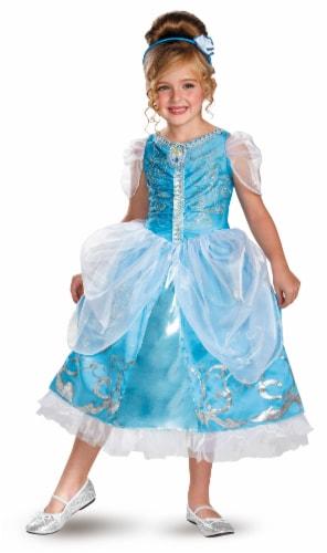 Cinderella Sparkle Deluxe Halloween Costume (7-8) Perspective: front