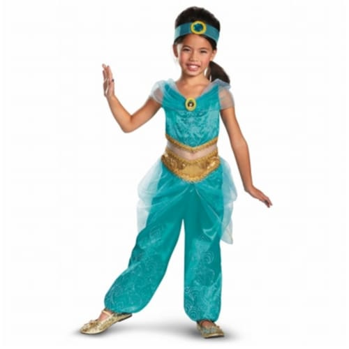 Disguise 218205 Disney Jasmine Deluxe Sparkle Toddler-Child Costume Small - 4-6x Perspective: front