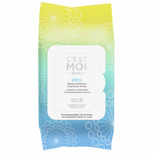 C'est Moi Gentle Makeup Remover Cleansing Wipes Perspective: front