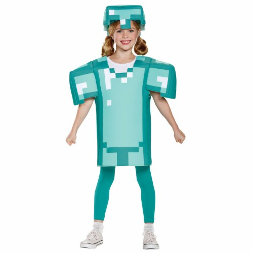 Disguise DG65645K 7-8 Minecraft Armor Classic Child Costume Perspective: front