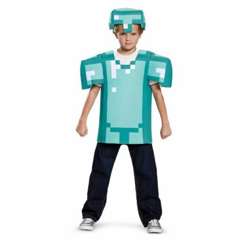 Disguise DG65645L Minecraft Armor Classic Costume for 4-6 Years Kids Perspective: front