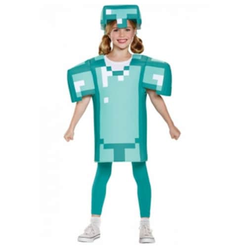 Disguise DG65645G Childs Minecraft Armor Classic Costume, Size 10-12 Perspective: front