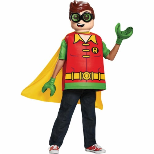 Disguise DG66267K Childs Lego Batman Robin Costume - Size 7-8 Perspective: front