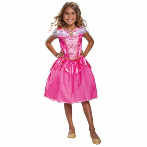 Morris Costumes DG66598L Childs Classic Disney Aurora Costume, Size 4-6 Perspective: front