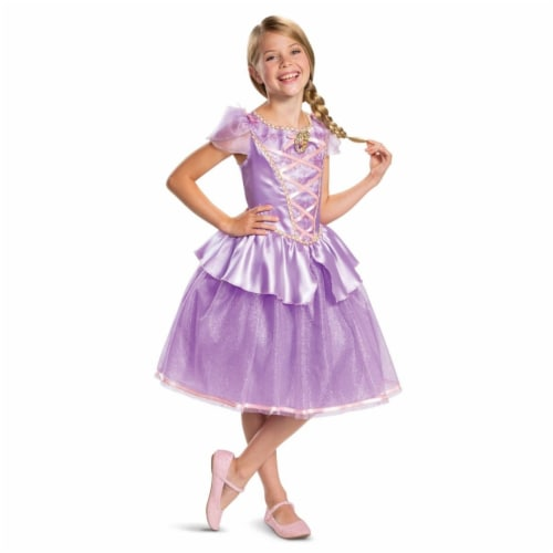 Disguise 403249 Girls Rapunzel Classic Child Costume, Small 4-6X Perspective: front