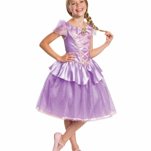 Disguise 403248 Girls Rapunzel Classic Child Costume, Medium 7-8 Perspective: front