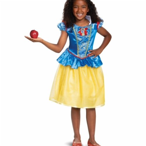Disguise 403252 Girls Snow White Classic Child Costume, Small 4-6X Perspective: front