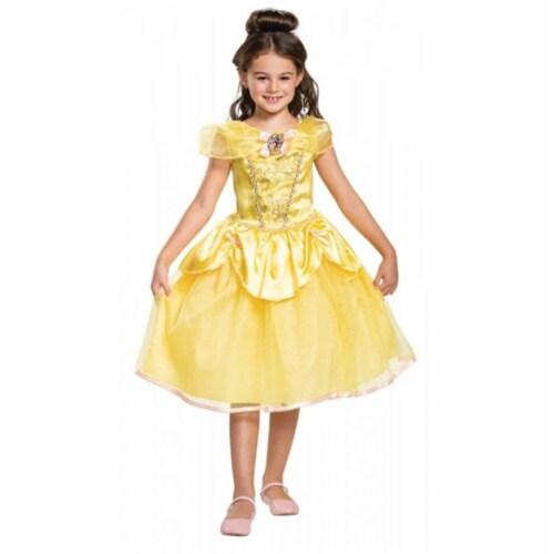 Morris Costumes DG66631K Disney Belle Classic Child Costume - Size 7-8 Perspective: front