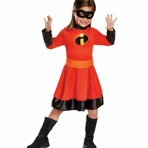 Disguise 276011 Halloween Incredibles 2 Violet Classic Toddler Costume - 3T-4T Perspective: front