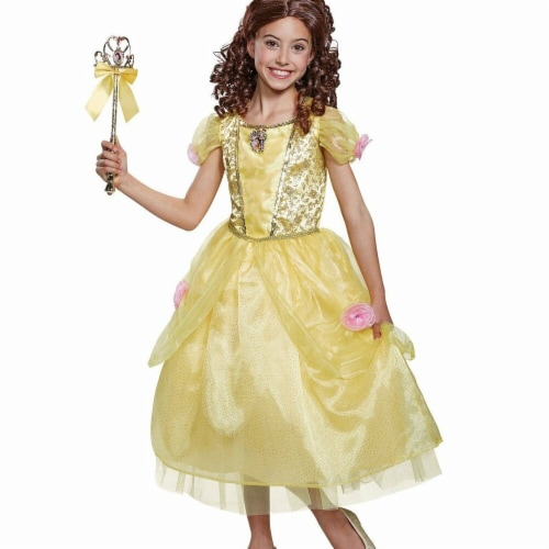 Disguise 275931 Halloween Beauty & The Beast Belle Deluxe Toddler Costume - 3T-4T Perspective: front