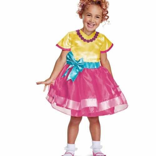 Disguise Fancy Nancy Classic Toddler Child Costume,  (Size Medium 3T-4T) Perspective: front