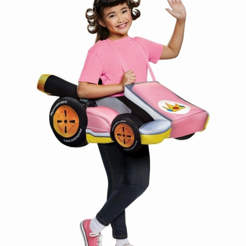 Disguise 276175 Halloween Super Mario Bros. Peach Kart Child Costume - One Size Perspective: front
