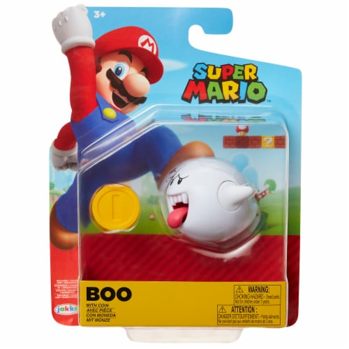Nintendo Super Mario Boo with Coin Action Figure Perspective: front