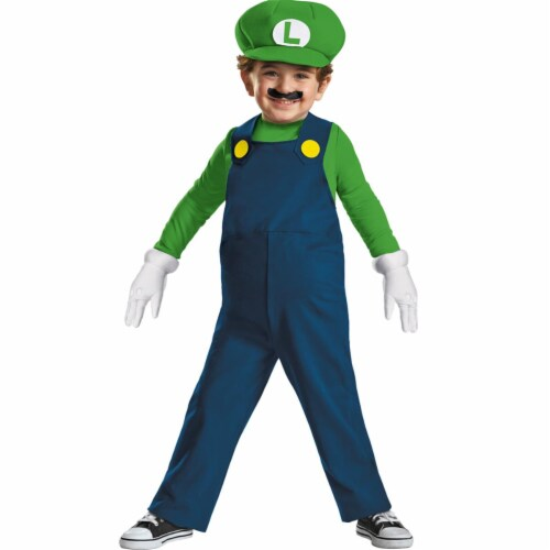 Disguise DG73684S Luigi Toddler Costume Perspective: front