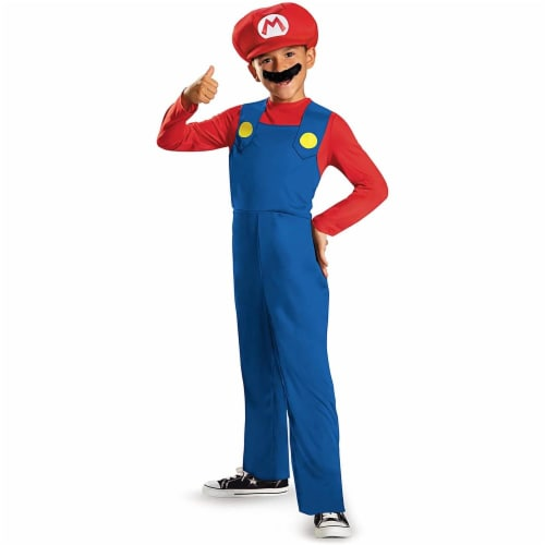 Disguise Nintendo Super Mario Brothers Mario Classic Boys Costume, Medium/7-8 Perspective: front