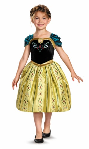 Disney Anna Coronation Gown Classic Costume (7 - 8) Perspective: front