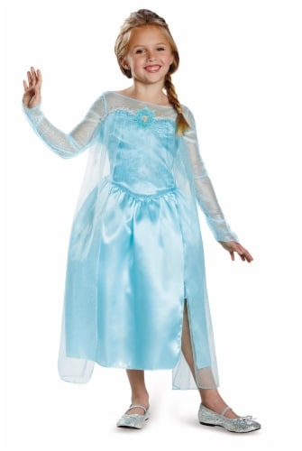 Disguise Disney Frozen Elsa Classic Size 4-6 Child's Costume Perspective: front