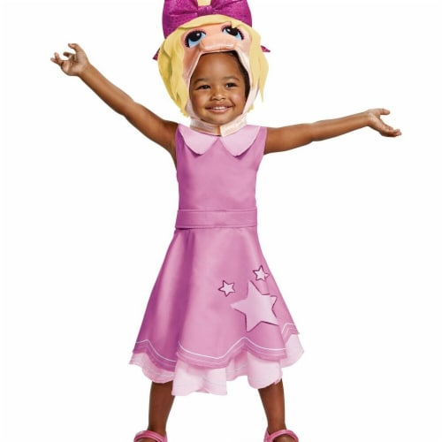 Disguise 276177 Halloween The Muppet Babies Miss Piggy Classic Costume - 3T-4T Perspective: front