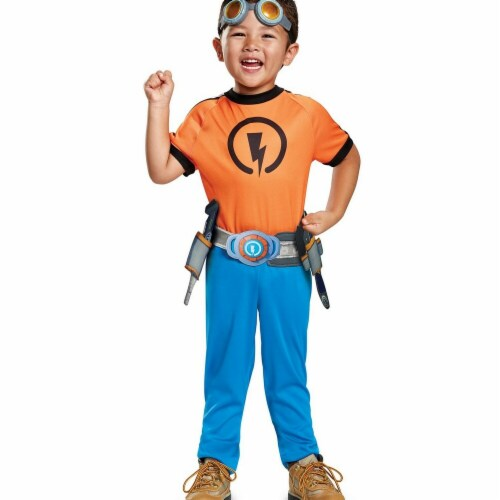Disguise 276153 Halloween Rusty Rivets Rusty Classic Toddler Costume - 3T-4T Perspective: front