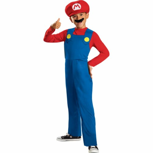 Disguise DG73689M XS Boys Mario Classic Costume Perspective: front