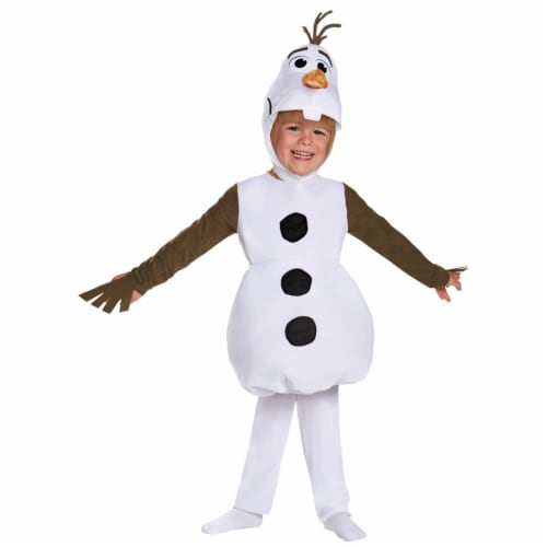 Disguise DG83176S White Boys Olaf Toddler Classic Costume, Size 2T Perspective: front