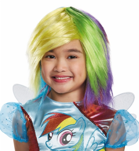 Rainbow Dash Wig One Size Child Perspective: front