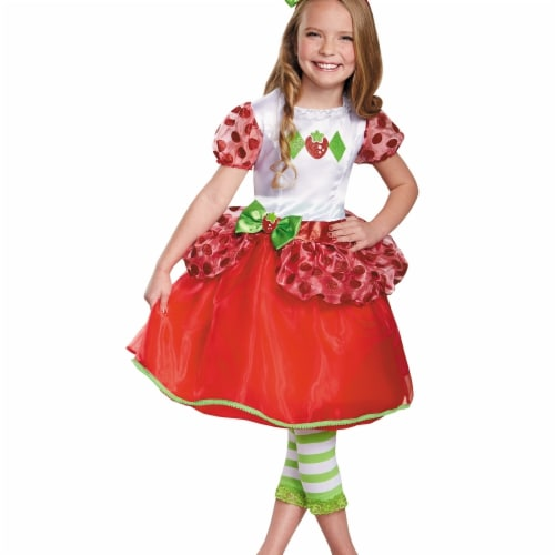 Morris Costumes DG84477M Strawberry Shortcake Deluxe Costume, Size 3 - 4 Tall Perspective: front